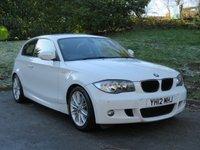 USED 2012 12 BMW 1 SERIES 2.0 120D M SPORT 3d 175 BHP PARKING SENSORS, PART LEATHER, AUTO