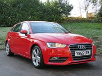 USED 2015 65 AUDI A3 1.4 TFSI SPORT NAV 5d 148 BHP FINANCE UNDER £55 A WEEK