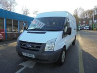 2010 FORD TRANSIT 2.4 350 LONG WHEEL BASE SEMI HIGH ROOF 115 BHP, FULL SERVICE HISTORY !!! NO VAT TO PAY !!!! £5500.00