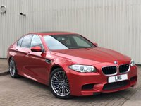 USED 2015 65 BMW M5 4.4 M5 4DR AUTO 553 BHP 1 OWNER 20s>HEAD UP>RED LEATHER> PEARL ORANGE