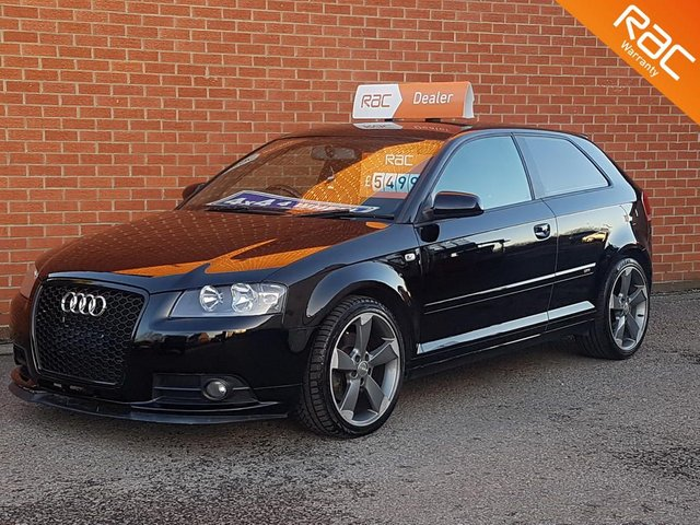 2007 57 AUDI A3 2.0 TDI QUATTRO  S LINE 3d 168 BHP FULL BLACK LEATHER