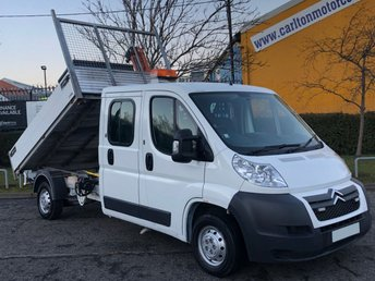 2012 CITROEN RELAY 35 2.2Hdi 130ps L3 LWB D/Cab Tipper+ Swing Lift Crane  £10950.00
