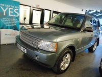 USED 2006 56 LAND ROVER RANGE ROVER 2.9 TD6 VOGUE 5d AUTO 175 BHP Four owners, full service history - 10 stamps, 6 from Land Rover, May Mot but supplied with 12 months. Finished in Giverny Green with Beige leather seats.