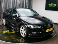 USED 2015 65 AUDI A3 1.6 TDI S LINE 4d 109 BHP £0 DEPOSIT FINANCE AVAILABLE, AIR CONDITIONING, AUX INPUT, AUDI DRIVE SELECT, BLUETOOTH CONNECTIVITY, CLIMATE CONTROL, DAB RADIO, DAYTIME RUNNING LIGHTS, ELECTRONIC PARKING BRAKE, FULL S LINE LEATHER UPHOLSTERY, START/STOP SYSTEM, STEERING WHEEL CONTROLS, TRIP COMPUTER, VOICE ACTIVATED CONTROLS