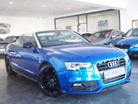 USED 2015 15 AUDI A5 CABRIOLET 2.0 TDI S LINE SPECIAL EDITION PLUS 2d AUTO 175 BHP +SAT NAV+HTD LEATHER+R-CAM+