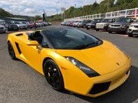 USED 2006 56 LAMBORGHINI GALLARDO 5.0 V10 SPYDER 2d AUTO 513 BHP Only 18,000 miles. Pearlescent Yellow, Tubi exhaust ++