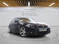 USED 2014 14 BMW 5 SERIES 2.0 525D M SPORT 4d AUTO 215 BHP +  SAT NAV + AIR CON + LEATHER SEATS + BLUETOOTH