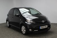 USED 2013 13 TOYOTA AYGO 1.0 VVT-I FIRE AC 5DR 67 BHP FREE ROAD TAX 1 OWNER FREE 12 MONTHS ROAD TAX + AIR CONDITIONING + RADIO/CD/USB + REAR PRIVACY GLASS + ELECTRIC WINDOWS + 14 INCH ALLOY WHEELS