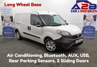 2015 FIAT DOBLO 1.6 16V MULTIJET, Long Wheel Base, Air Conditioning, Bluetooth, Rear Parking Sensors, 2 Sliding Doors, AUX £5980.00