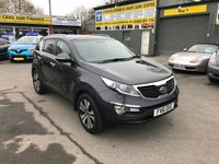 2011 KIA SPORTAGE 1.7 CRDI 3 5 DOOR 114 BHP IN SILVER WITH 47000 MILES AND A PANORAMIC ROOF AND FULL BLACK LEATHER INTERIOR. £8999.00
