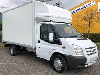 2014 FORD TRANSIT 2.2 T350L LUTON BOX VAN+ T/LIFT DRW TDCi 125  £12950.00