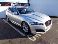 USED 2014 14 JAGUAR XF 2.2 D R-SPORT SPORTBRAKE 5d AUTO 200 BHP £359 A MONTH SATELLITE NAVIGATION BLUETOOTH DAB RADIO PRIVACY GLASS HALF LEATHER CLIMATE AND CRUISE CONTROL AUTOMATIC