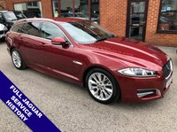 USED 2013 63 JAGUAR XF 2.2 D SPORT SPORTBRAKE 5d AUTO 200 BHP Bluetooth  :  Sat Nav  :    DAB Radio    :    Contrasting leather upholstery    :    Electric driver + passenger seats    :  Elec adj steering wheel :  Remotely operated tailgate :  Reverse camera + front/rear sensors : Just 1 previous private owner   :   Fully stamped Jaguar service history