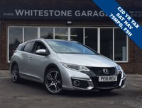 USED 2016 16 HONDA CIVIC 1.6 I-DTEC SR TOURER 5d 118 BHP £20 A YEAR TO TAX 70+MPG, SATELLITE NAVIGATION, HEATED LEATHER SEATS, CRUISE + CLIMATE CONTROL, CARGO PACK, TOW PACK,