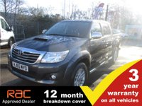 USED 2015 65 TOYOTA HI-LUX Double Cab Invincible 3.0 171ps NAV 3 YR WARRANTY 12 MONTH BREAKDOWN
