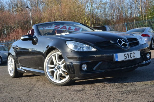 USED 2005 MERCEDES-BENZ SLK 1.8 SLK200 KOMPRESSOR 2d AUTO 161 BHP ~ FACTORY AMG KIT ~ BRABUS ALLOYS FACTORY AMG KIT ~ GENUINE BRABUS ALLOYS ~ 1 FORMER KEEPER FROM NEW ~ FSH