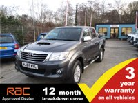 USED 2015 65 TOYOTA HI-LUX Double Cab Invincible 3.0 171ps NAV 3 Year Warranty 12 Month Breakdown