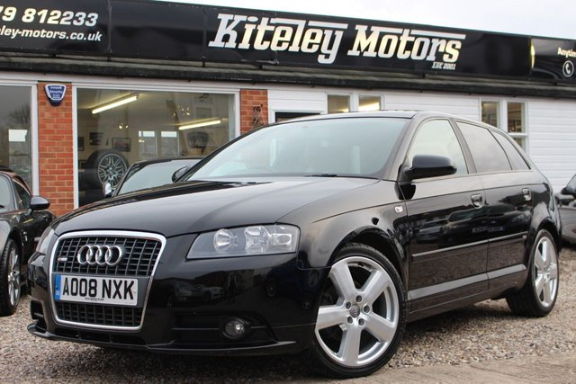 2008 08 AUDI A3 1.8 SPORTBACK TFSI S LINE AUTO LEATHER & PANORAMIC ROOF