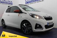 USED 2015 65 PEUGEOT 108 1.2 PURETECH ROLAND GARROS TOP 3d 82 BHP LOW MILES - FULL HISTORY - REVERSE CAMERA - ALLOY WHEELS - AUTO LIGHTS