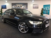 USED 2012 62 AUDI A6 3.0 TDI QUATTRO S LINE 4d AUTO 313 BHP F/S/H, HUGE SPEC, IMMACULATE, SAT NAV, FULL LEATHER HEATED SEATS!!
