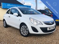 USED 2013 13 VAUXHALL CORSA 1.0 S ECOFLEX 3d 64 BHP Economical White corsa with Low Road Tax