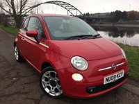 USED 2009 09 FIAT 500 1.2 SPORT 3d 69 BHP **STUNNING PART LEATHER INTERIOR**