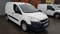 USED 2015 65 PEUGEOT PARTNER PROFESSIONAL 850 1.6HDi 92 BHP L1 H1 VAN 3 SEATER MODEL WITH AIR-CON, ONE CO. OWNER - ONLY 48,000m, VERY NICE SPECIFICATION