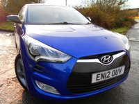 USED 2012 12 HYUNDAI VELOSTER 1.6 GDI 4d 138 BHP ** 6 SPEED , SPORTS SEATS , ALLOYS , OUTSTANDING VEHICLE **