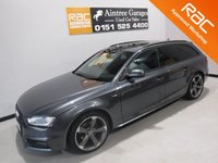 USED 2014 64 AUDI A4 2.0 AVANT TDI S LINE BLACK EDITION 5d AUTO 174 BHP A REAL EXAMPLE OF A STUNNING AND VERY WELL LOOKED AFTER PRESTIGE CAR. ONE OWNER WITH FULL AUDI SERVICE HISTORY FINISHED IN GLEAMING SILVER WITH FULL BLACK LEATHER, ICE COLD AIR CON FOR THOSE HOT SUMMER DAYS, PARKING SENSORS, SAT NAV, 18INCH ALLOYS, MULTI FUNCTION STEERING WHEEL, CRUSE CONTROL, BOSE SOUND SYSTEM  GREAT CAR
