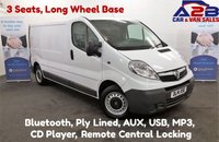 2014 VAUXHALL VIVARO 2.0 CDTI 2900 115 BHP, 3 Seats, Long Wheel Base, Bluetooth, Ply Lined, AUX, USB £6980.00