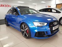 USED 2018 18 AUDI A3 2.5 RS 3 QUATTRO 4d AUTO 395 BHP+PAN ROOF+BUCKET SEATS+RS SPORTS EXHAUST+RED CALIPERS+