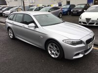 USED 2012 12 BMW 5 SERIES 2.0 525D M SPORT TOURING 5d AUTO 215 BHP OUR  PRICE INCLUDES A 6 MONTH AA WARRANTY DEALER CARE EXTENDED GUARANTEE, 1 YEARS MOT AND A OIL & FILTERS SERVICE. 6 MONTHS FREE BREAKDOWN COVER.   CALL US NOW FOR MORE INFORMATION OR TO BOOK A TEST DRIVE ON 01315387070 !!