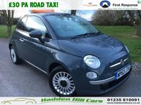 USED 2013 63 FIAT 500 1.2 LOUNGE 3d 69 BHP Only £30 Per Year Road Tax!
