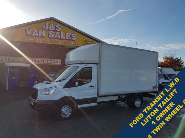 USED 2016 66 FORD TRANSIT LUTON TAILIFT TWIN WHEEL 1 OWNER TWIN WHEEL  ##### OVER 100 MORE VANS EURO 5 / 6 MODELS IN STOCK ####