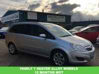 USED 2008 58 VAUXHALL ZAFIRA 1.6 BREEZE PLUS 5d 105 BHP Mot Until 12th February 2020 !!!  loads of room for the family 7 seats, 2 keys, front and rear heated screen 01536 402161