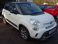 USED 2014 14 FIAT 500L 0.9 TWINAIR TREKKING 5d 105 BHP Low Mileage, Full Service History and Serviced by ourselves, One Previous Owner, MOT until February 2020, 6 Speed Gearbox, Great fuel economy! Only £30 Road Tax!