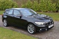 USED 2016 65 BMW 1 SERIES 1.5 116D SPORT 5d 114 BHP 1 OWNER FBMWSH SAT NAV BLUETOOTH DAB 17 ALLOYS TAX £20