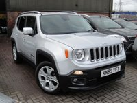 USED 2015 65 JEEP RENEGADE 2.0 M-JET LIMITED 5d AUTO 138 BHP ANY PART EXCHANGE WELCOME, COUNTRY WIDE DELIVERY ARRANGED, HUGE SPEC