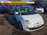 2009 FIAT 500 1.2 LOUNGE DUALOGIC 3d AUTO 69 BHPI IN CHINA BLUE WITH ONLY 43000 MILES AND ONE LADY OWNER. £5299.00