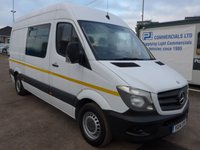 USED 2014 14 MERCEDES-BENZ SPRINTER 313 CDI MWB HI ROOF 7 SEATER WELFARE, 130 BHP [EURO 5]