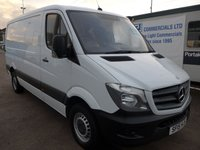 2015 MERCEDES-BENZ SPRINTER 313 CDI MWB LOW ROOF, 130 BHP [EURO 5], 1 COMPANY OWNER £8495.00