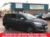 USED 2014 14 MAZDA 5 1.6 D SPORT VENTURE EDITION 7 Seater Meteor Grey Mica Full Leather SAt NAV 7 Seater Full Leather Heated Front Seats Bluetooth Sat Nav Alloy Wheels Rev Camera