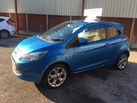 USED 2012 62 FORD KA 1.2 ZETEC 3d 69 BHP Only £30 Road Tax & 26,000 Miles, Rear Tailgate Spoiler, Full Service History, 12 Mths Mot