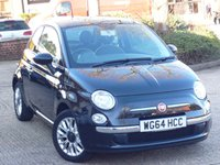 USED 2014 64 FIAT 500 1.2 LOUNGE 3d 69 BHP FULL FIAT SERVICE HISTORY WITH SERVICES AT 14k, 29K, 40K & 49K. PANORAMIC SUNROOF, SMART ALLOYS, USB PORT, LOW TAX, GREAT FUEL ECONOMY - 55 MILES PER GALLON DAY TO DAY DRIVING.  WE  FULLY PREPARE OUR CARS TO INCLUDE A NEW MOT WITH NO ADVISORIES, A FULL VALET, AND A 6 MONTH MAJOR MECHANICAL BREAKDOWN WARRANTY.