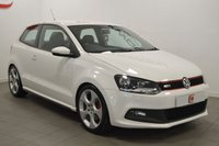USED 2012 12 VOLKSWAGEN POLO 1.4 GTI DSG 3d AUTO 177 BHP LOW MILES + VW SERVICE HISTORY + STUNNING IN WHITE + PART EXCHANGE WELCOME