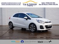 USED 2016 66 KIA RIO 1.4 CRDI 3 ISG 3d 89 BHP One Owner Full KIA History Buy Now, Pay Later Finance!
