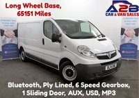 USED 2014 14 VAUXHALL VIVARO 2.0 CDTi 115 BHP 2900, Long Wheel Base, Bluetooth, Ply Lined, AUX, USB, MP3 **Drive Away Today** Over The Phone Low Rate Finance Available, Just Call us on 01709 866668**