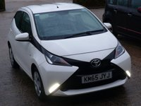 USED 2015 65 TOYOTA AYGO 1.0 VVT-I X-PLAY 5d 69 BHP FULL SERVICE HISTORY WITH SERVICES AT 13K, 22K, 38K & 43K. FREE ROAD TAX, BLUETOOTH MUSIC STREAMING. AIR CONDITIONING, SPEED LIMITER, SUPERB FUEL ECONOMY - 55 MILES PER GALLON DAY TO DAY DRIVING, MANUFACTURERS WARRANTY NOVEMBER 2020  ALL OUR CARS ARE FULLY PREPARED TO INCLUDE A NEW MOT WITH NO ADVISORIES, A FULL VALET, AND  A 6 MONTH MAJOR MECHANICAL BREAKDOWN WARRANTY. NEED FINANCE? WE ARE FINANCE SPECIALISTS AND HAVE A RANGE OF PACKAGES TO SUIT ALL BUDGETS