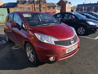 USED 2014 64 NISSAN NOTE 1.2 ACENTA PREMIUM DIG-S 5d 98 BHP AUTOMATIC WITH ONLY 19367 MILES! LOW CO2 EMISSIONS (119G/KM) AND £30 ROAD TAX! CHEAP TO RUN AND EXCELLENT FUEL ECONOMY AND EXCELLENT SPECIFICATION  INCLUDING SAT NAV, PARKING SENSORS, BLUETOOTH AND  ALLOY WHEELS.