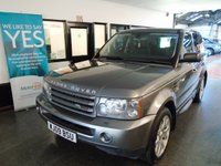 USED 2009 09 LAND ROVER RANGE ROVER SPORT 2.7 TDV6 SPORT HSE 5d AUTO 188 BHP Three owners, full service history- nine stamps, Cam belts replaced in 2015 @ 72816 miles. October Mot. Finished in Metallic Stornoway Grey with full Black heated leather seats.